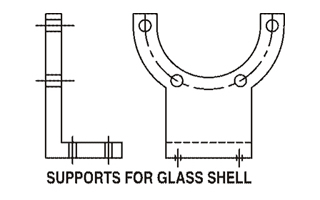 supports for glass shell
