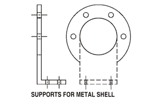 supports for metal shell