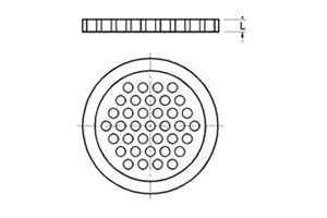 PACKING RETAINERS / PTFE PERFORATED PLATES