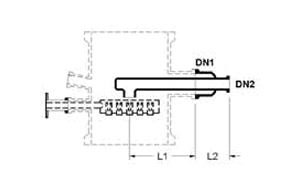 INLET FEED PIPES FOR FEED SECTIONS
