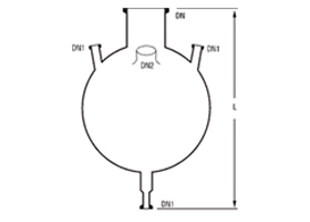FOUR NECK BOTTOM OUTLET SPHERICAL VESSELS