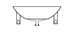 FIVE NECK BOTTOM OUTLET SPHERICAL VESSELS
